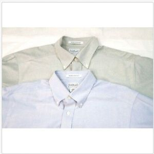 LL Bean Button Down Lot Of 2 Shirts Size 16-36